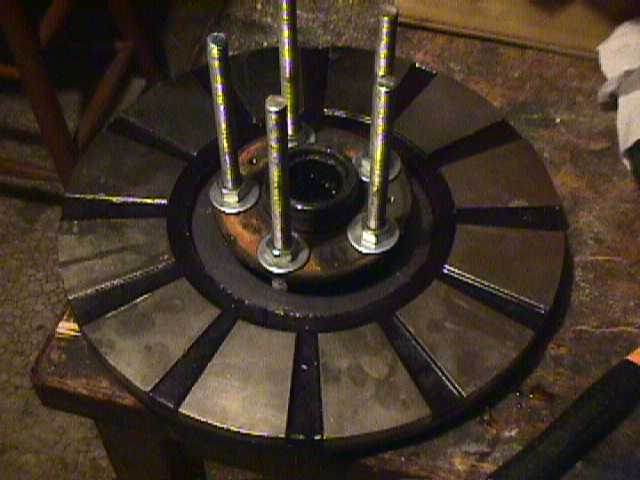 backrotor on wheel hub
