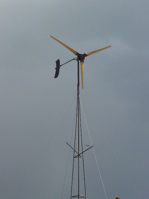 14' diameter wind turbine on tower