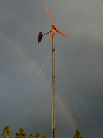 homebrew 20 foot diameter wind turbine