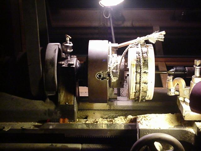 on the lathe