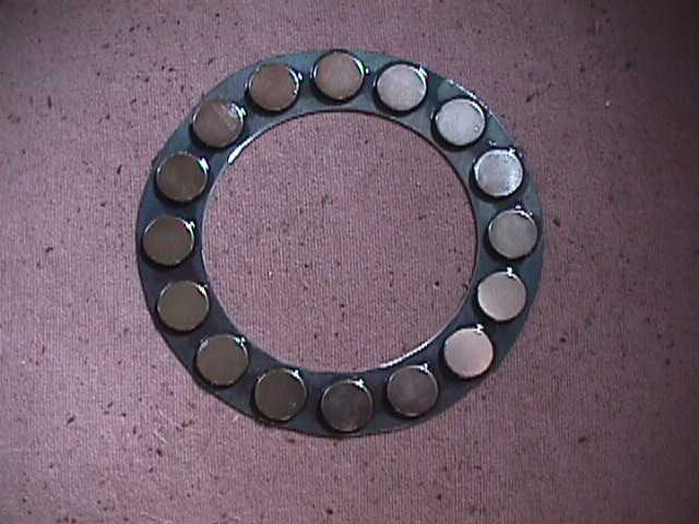 magnets on steel ring