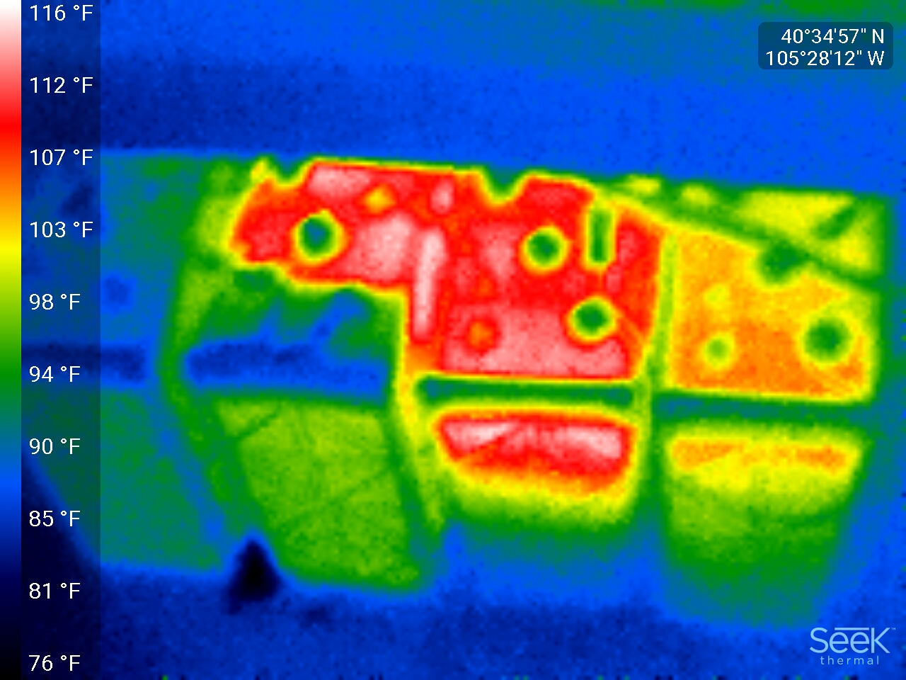 Bad battery thermal image